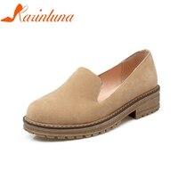 KARINLUNA New Large Size 34 43 Slip On Retro British Style Spring Women Shoes Flats Comfortable