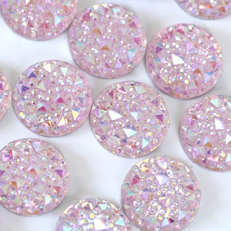 100 Stück Oval 4x6 mm Acryl-Strass-Steine // Schmucksteine zum aufkleben rosa