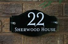 Customize MODERN HOUSE SIGN NAME PLAQUE DOOR NUMBER GLASS EFFECT ACRYLIC Colour Choices!! House number plate
