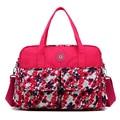 2016 New Fashion Autumn Women Messenger Bags Nylon Flower Print Crossbody Shoulder Bags Large Ladies Designer Mom Handbags 202