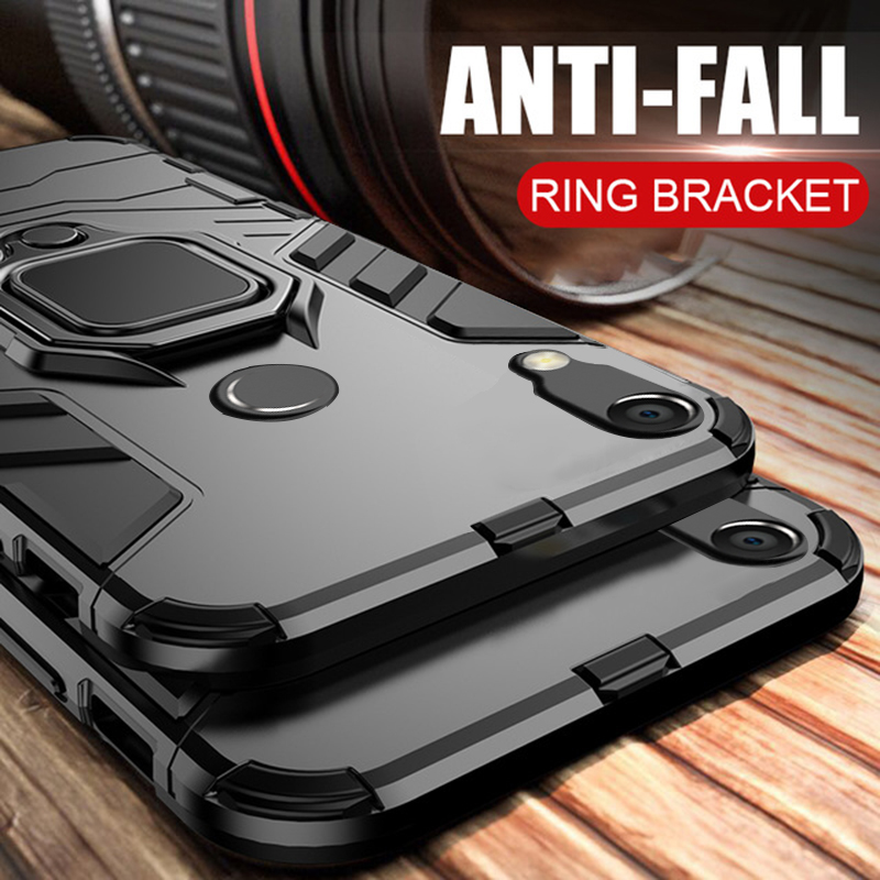 Case For Huawei Y6 2019 Case Armor Ring Magnetic Car Hold Shockproof Soft Bumper Protection Phone Cover For Huawei Y6 2019 Case