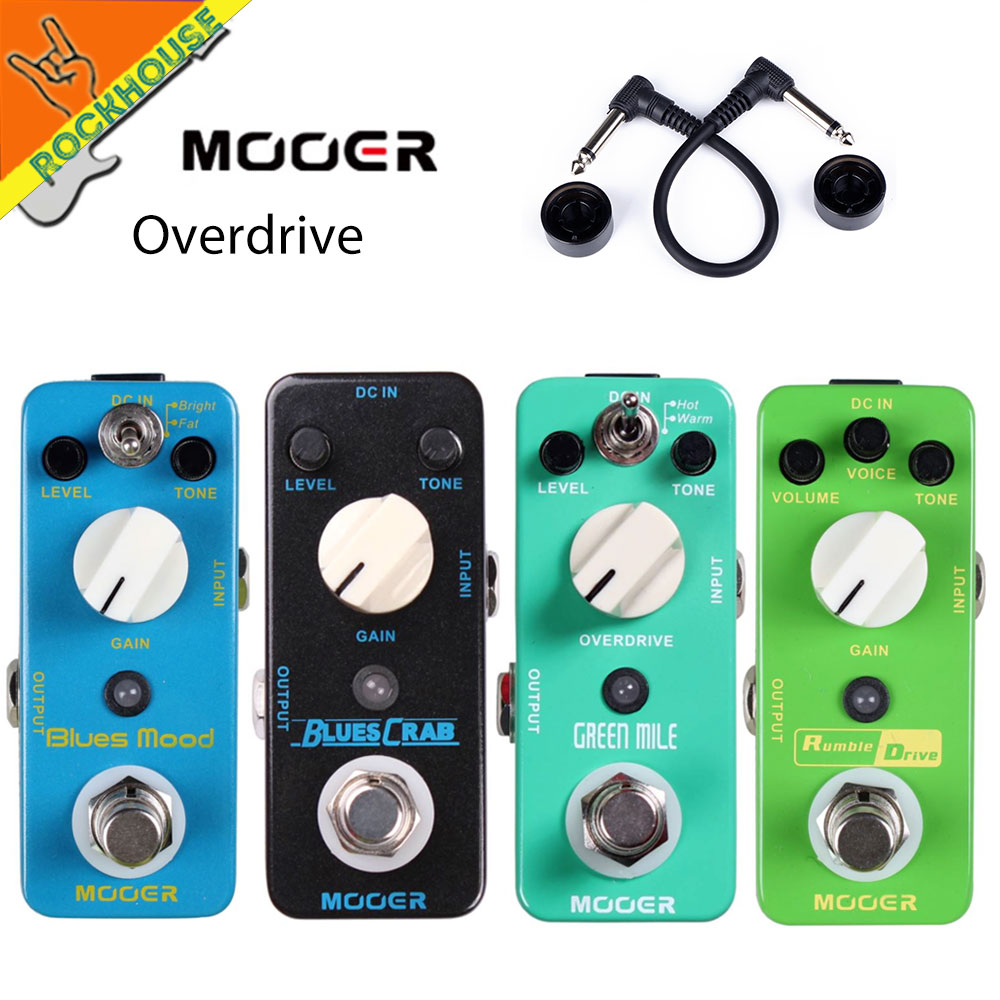 MOOER Overdrive Effect Guitar Pedals Round and smooth Overdrive tone Effect Pedal 2 Working Modes True