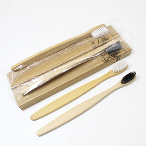 Image 2 - 100 Pieces 4 color 100% Bamboo Toothbrush Wood toothbrush Novelty Bamboo soft bristle Capitellum Bamboo Fibre Wooden Handle