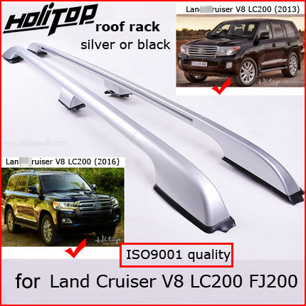 OE barres de toit barre de toit bagages rail pour Toyota Land Cruiser 200 V8 LC 200 LC200 FJ200 2008-2018, argent ou noir, qualité fournisseur