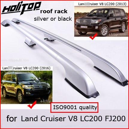 Oe Imperiaal Dak Bar Bagage Rail Voor Toyota Land Cruiser 200 V8 Lc 200 Lc200 Fj200 2008-2018, Zilver Of Zwart, Kwaliteit Leverancier