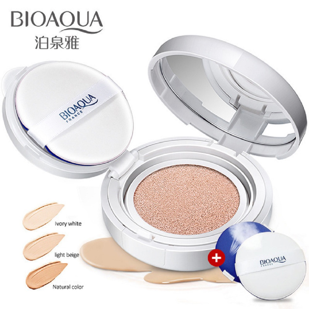 BIOAOUA Sunscreen Air Cushion BB CC Cream Concealer Moisturizing Foundation Whitening Makeup Bare For Face Beauty Makeup care(China)