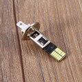 Nova H1 6500 K Xenon HID Branco Luzes de Nevoeiro Carro 24 4014-SMD DC12V LED luz Luzes Do Carro Lâmpadas Auto Lâmpada lâmpadas
