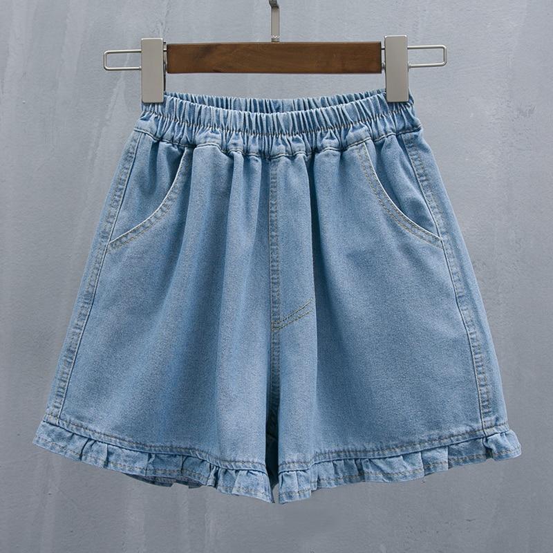 5xl plus big size denim jeans   shorts   women summer style 2018 feminina new high waist loose denim   shorts   female A5022