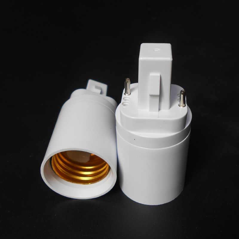 ABS LED G24 כדי E27 מתאם שקע הלוגן CFL אור מנורת בסיס ממיר e27 כדי g24 הנורה מחזיק מתאם 2pin 85-265V