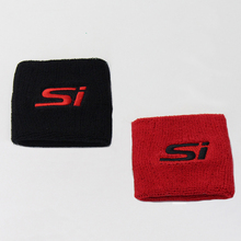 10Pcs Red Black Reservoir Brake Clutch Oil Tank Cover Cap Sock For Honda Civic CRX SI(China)