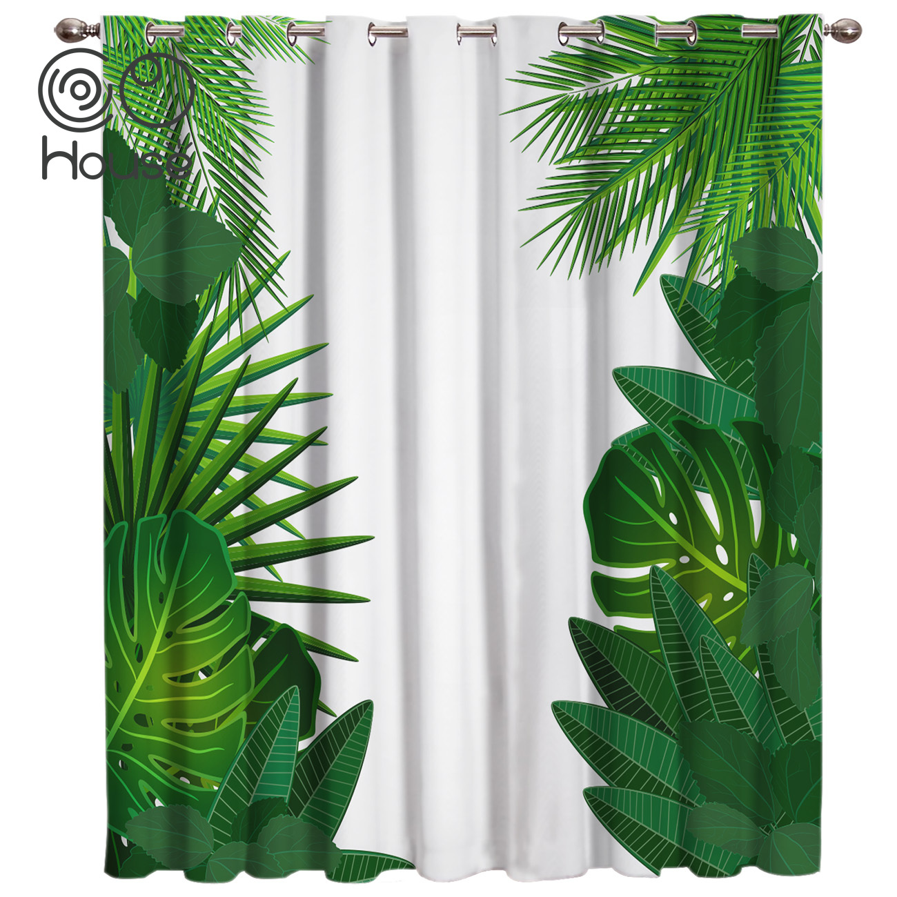Cocohouse Tropical Leaves Plant Window