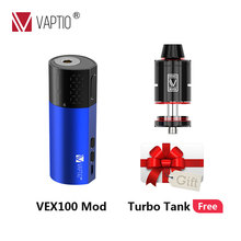 Gift Vape mod 100W Electronic Cigarette Vaptio VEX Box MOD vape battery 510 thread atomizer fit 18650 battery аккумулятор 21700 wismec reuleaux rx2 21700 230w tc mod 8000mah with dual 21700 batteries battery balance charge system upgradeable firmware vape