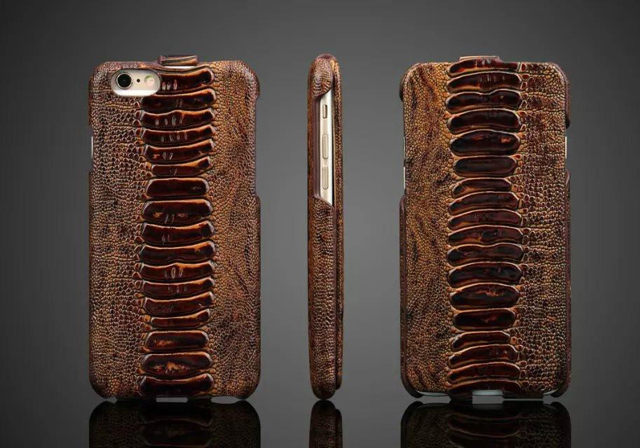 imágenes para Abra hacia Arriba Y Abajo de la Cubierta Del Tirón para el iphone 6 s Lujo de Piel de Serpiente Patrón de Cocodrilo Estuche de Cuero Para iPhone6s