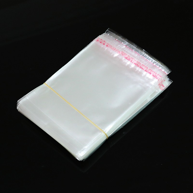200pcs Resealable Cellophane Poly Bags 8x18cm Transparent Opp Bag Self Adhesive Seal Boutique Jewelry Packaging Plastic Bags