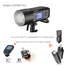 Godox AD400 Pro WITSTRO All-in-One Outdoor Flash for studio AD400Pro TTL HSS Flash with Built-in 2.4G Wireless X System godox ad600 pro witstro all in one outdoor flash ad600pro li on battery ttl hss built in 2 4g wireless x system for canon nikon