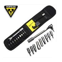 Topeak TT2524 Ratchet Rocket Lite Tools Mountain Bike T10/T25 Torx Chain Pin Breaker Hex Wrench Allen Key Socket Set