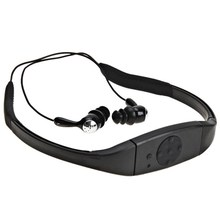 Underwater IPX8 Waterproof 8GB MP3 Stereo Neckband Sport MP3 Music Player with FM Audio Earphone Headset for Diving Swimming
