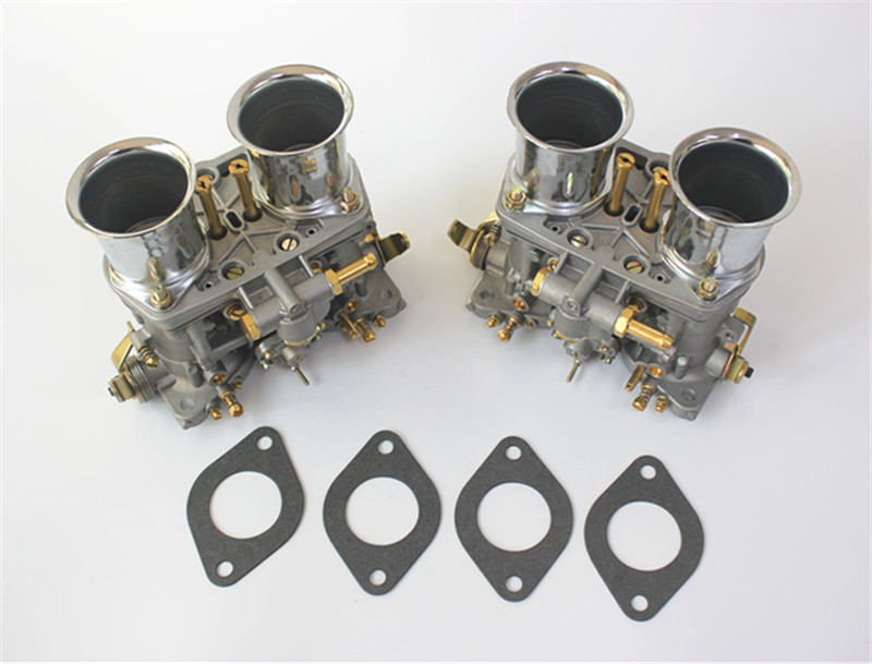 2 pcs/lot carburateur 40 Idf 40idf avec joint de cornes d'air pour Bug/beetle/vw/fiat/porsche Replece pour Solex Dellorto Weber Empi