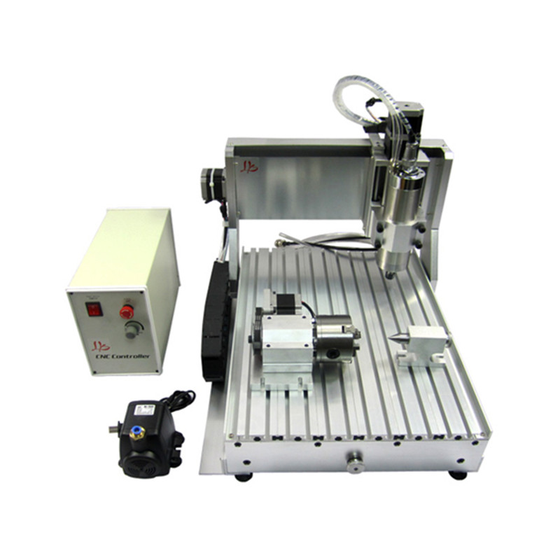 4 axis cnc machine 2200W cnc 3040 Aluminum Copper Metal engraving machine wood router with limit