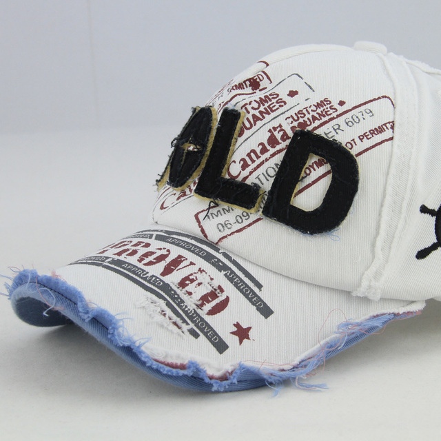 Top Fashion - Hold baseball cap retro finishing hiphop letter casual male & female 100% Cotton hat With Free Shipping