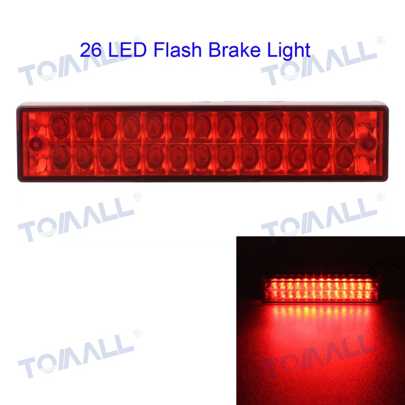 FINAL SALE 5.5 5W Flashing Car LED Rear Brake Light / Fog Lamp / Tail Reverse Light White / Red / Blue 12V 26LED Waterproof запчасти