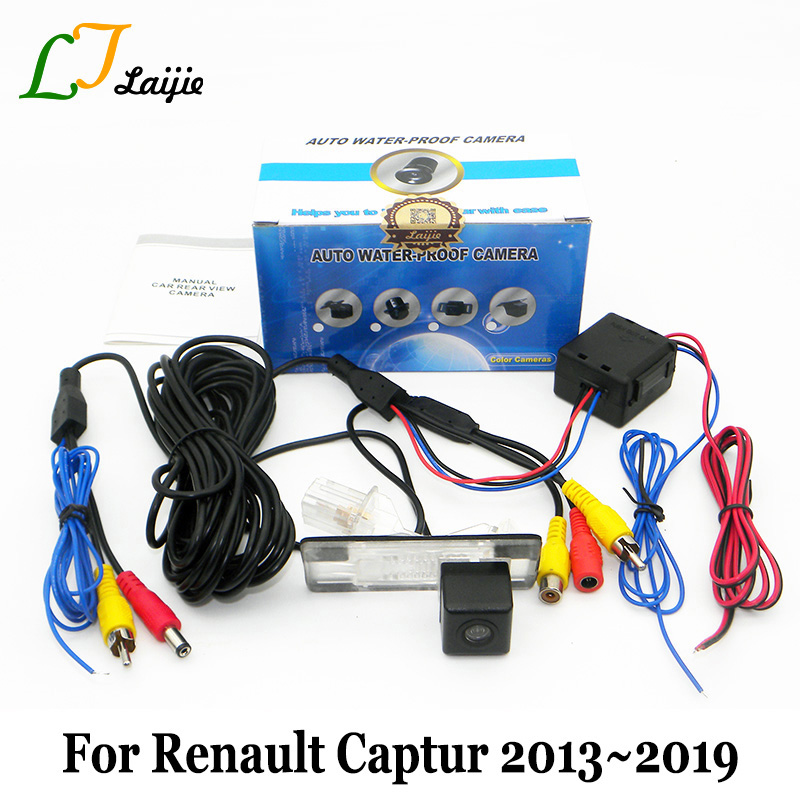 Car Rearview Camera For Renault Captur Kaptur 2013~2017 2018 2019 / With Power Relay Auto Wide Lens Angle Reverse Parking Camera