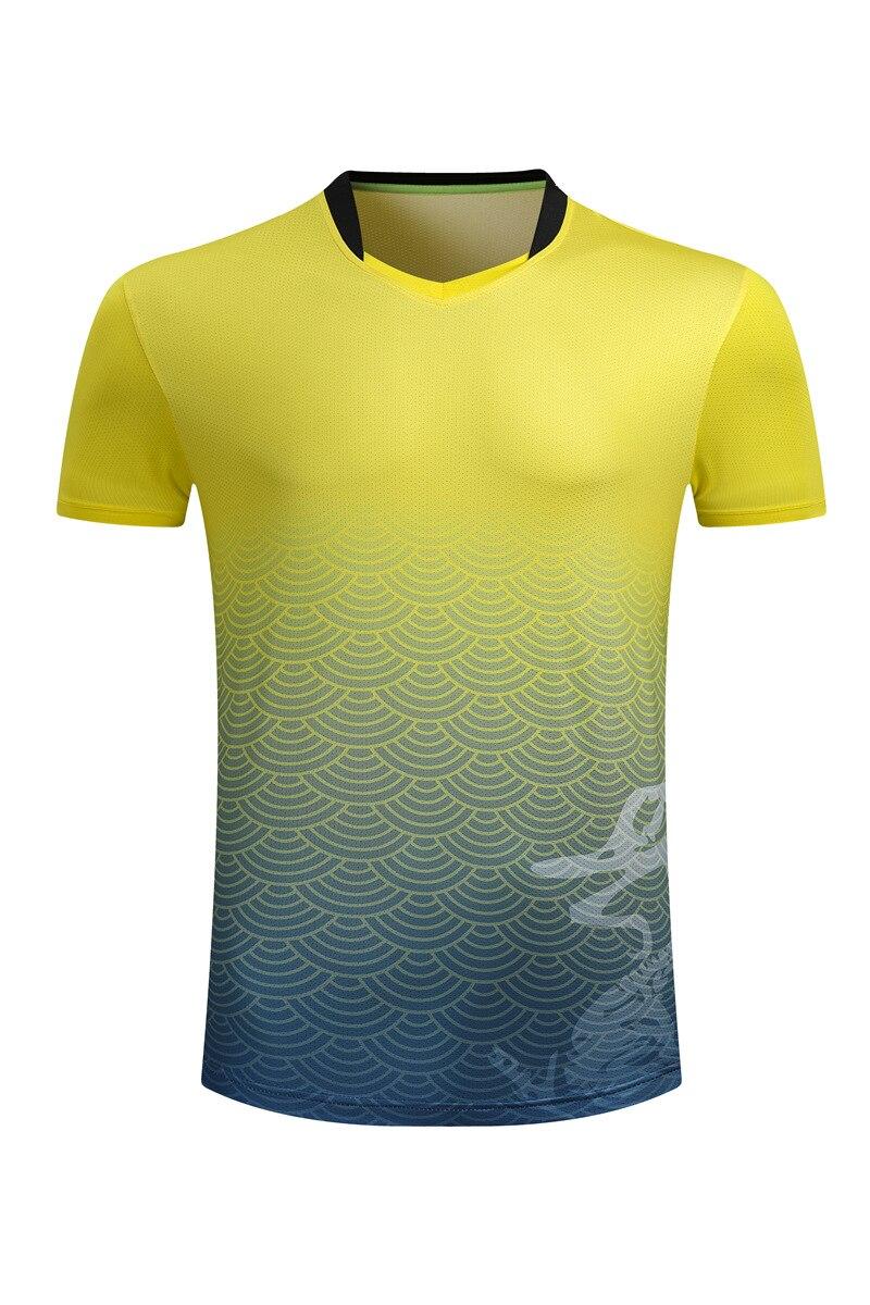 Женские/мужские спортивные футболки для бадминтона, теннисные футболки с короткими рукавами, футболки из полиэстера для настольного тенниса, одежда для пинг-понга, футболки из Джерси