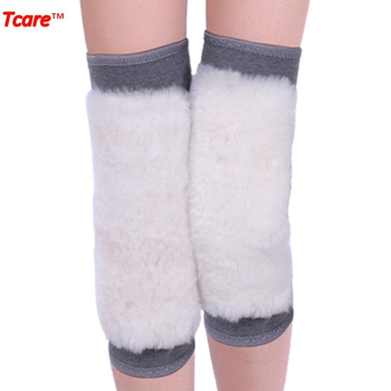 Tcare 겨울 따뜻한 울 무릎 보호대 탄력있는 통기성 무릎 보호 건강 관리 무릎 보호대 무릎 패드