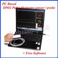 Baseado Em PC Oxímetro de pulso da ponta do dedo SPO2 sensor/sonda + Software Livre