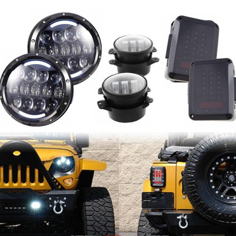 Для Wrangler Виллиса 105ВТ 7 светодиодные фары указателя поворота Противотуманные хвост свет лампы