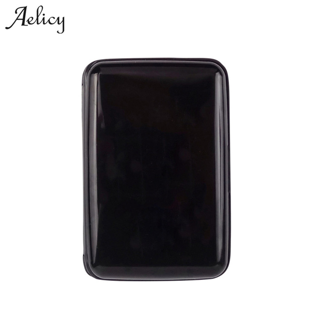 aelicy 2018 new design short credit card id holder men solid plastic credit card holder high - Plastic Credit Card