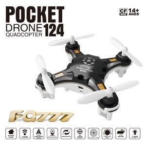 Image 3 - Drone de poche avion à quatre axes Mini aéronef sans pilote (UAV) Portable multi play Mini télécommande jouets LED lumières hélicoptère