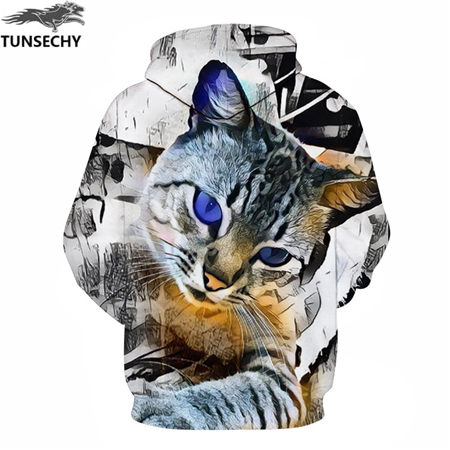 shop Cat Print Men/Women 3D Sweatshirts Print Milk Space Galaxy Hooded Hoodies Unisex with crypto, pay with bitcoin
