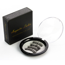 Genailish 6D Magnet Eyelashes 3pcs Magnetic Lashes Full Strip Lashes Natutal Long False Eyelashes Makeup Tools KS02-3