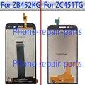Preto 4.5 polegada Display LCD Completa + Touch Screen Digitador de Vidro assembléia para asus zenfone go 4.5 zc451tg z00sd ou zb452kg x014d
