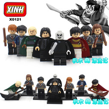 8pcs HARRY POTTER Movie Dumbledore Professor Snape Ron Weasley Hogwarts Express Hermione Building minifig Blocks Bricks Kids Toy