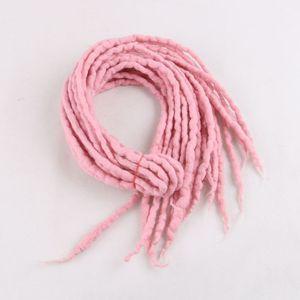 Image 5 - Tresses synthétiques en laine feutrée du népal à 10 brins, mèches de luxe, tresses au crochet, longueur 90 120cm pour enfants et adultes