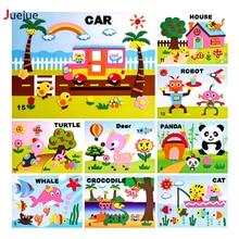 16 стиль/lot DIY мультфильм животных 3D пены eva Стикеры головоломки раннего обучения Образование Игрушечные лошадки для детей