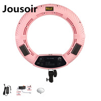 Pink FS 480II Camera Photo/Studio/Phone/Video 1848W 480 LED Ring Light 5500K Photography Dimmable Ring Lamp makeup CD50