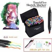 Touchfive 30 40 60 80 Color Markers Sketch Set For Manga Design Double Head Brush Pen