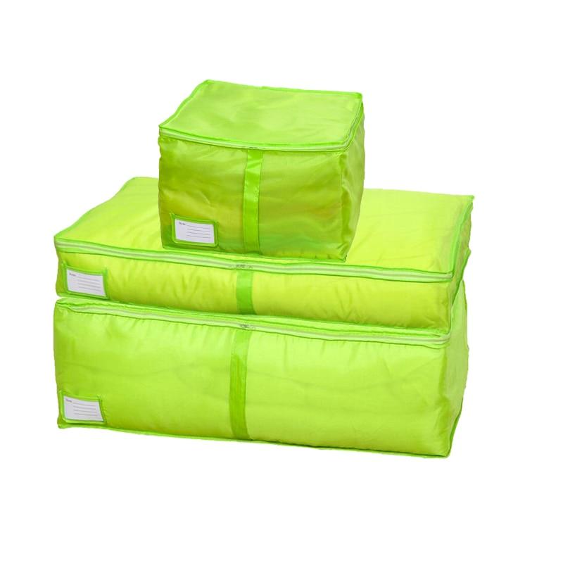HOMEBEGIN сумки для хранения стеганых одеял Оксфорд багажные сумки Домашний Органайзер для хранения моющийся шкаф для хранения одежды сумки для хранения S-L - Цвет: Green