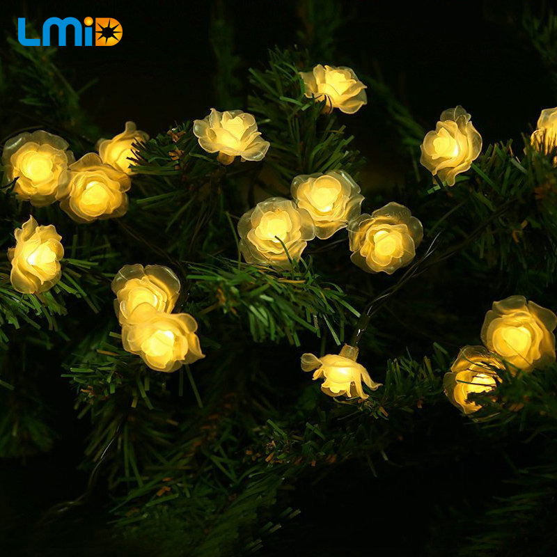 solar lamps 6m 30led romantic fairy outdoor solar light colorful christmas holiday wedding decoration waterproof string - Decorative Solar Lights
