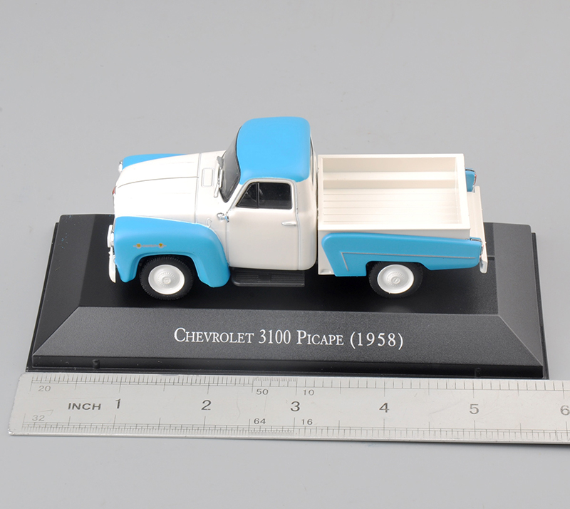 1/43 Scale Alloy Diecast 1/43 Scale Chevrolet 3100 Picape (1958) Diecast Yellow Car Model Toy Kids Toy