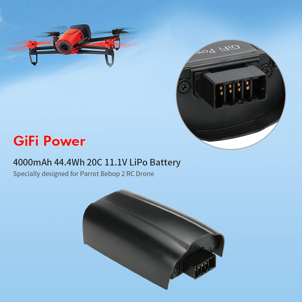 11 1V 4000mAh 44 4Wh 20C LiPo Battery 3s for Parrot Bebop 2 0 RC Drone