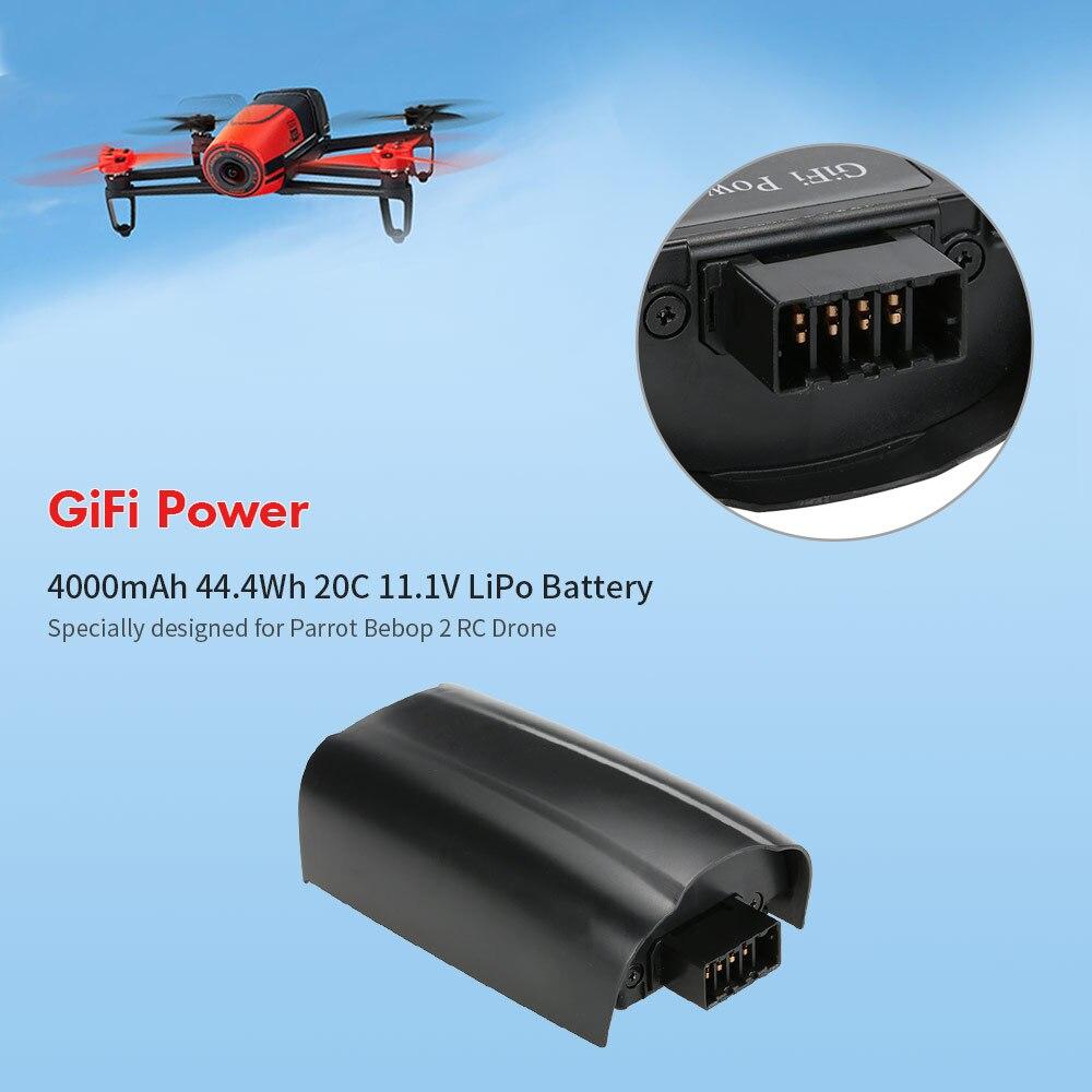 11.1ボルト4000 mah 44.4Wh 20cリポバッテリー3 s用オウムビバップ2.0 rcドローンrcbattery高電力  グループ上の おもちゃ & ホビー からの パーツ & アクセサリー の中 1