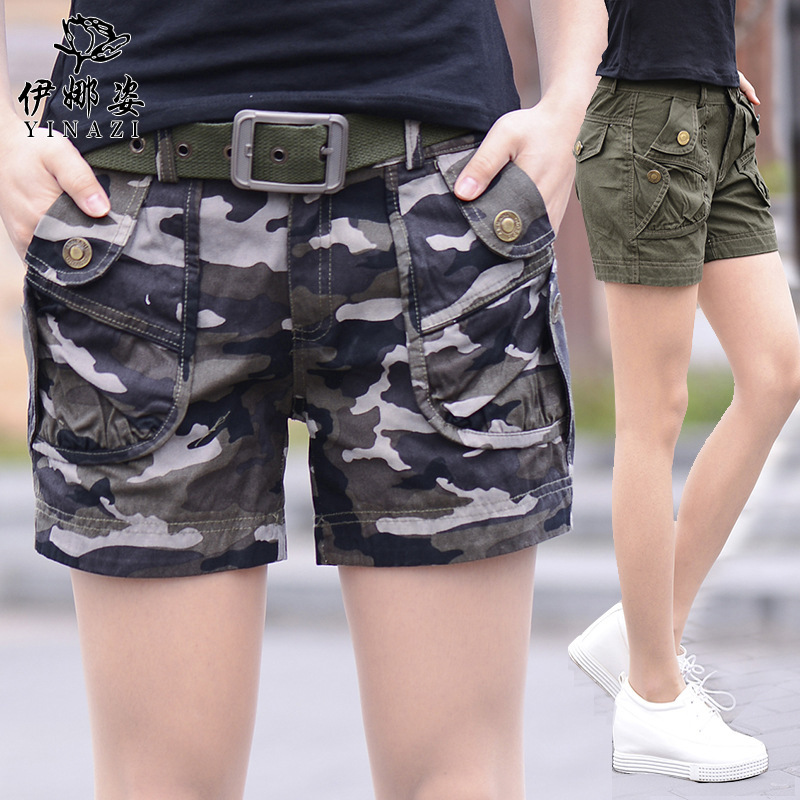High quality!2016 summer fashion girls camouflage shorts,women casual camo cargo shorts , army military hot shorts for girls ...