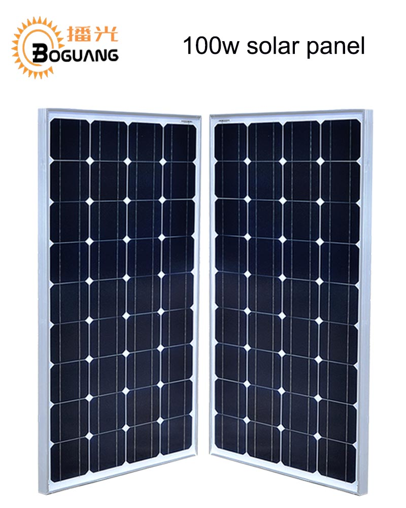 Boguang 18v 100w X2 solar panel in serie 200w Monocrystalline silicon cell PV module for 12v battery outdoor home  power charge 550mm 20m diy solar panel eva film sheet for pv cells encapsulation