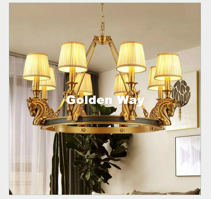 Free Shipping Copper Pendant Lamp Brass Hanging Light Candle Chandelier Nordic Suspension Lighting American Stylish Pendant Lamp modern 3l 5l 6l 8l 10l brass pendant lamp antique brass chandelier vintage total copper glass ac 100% guaranteed free shipping