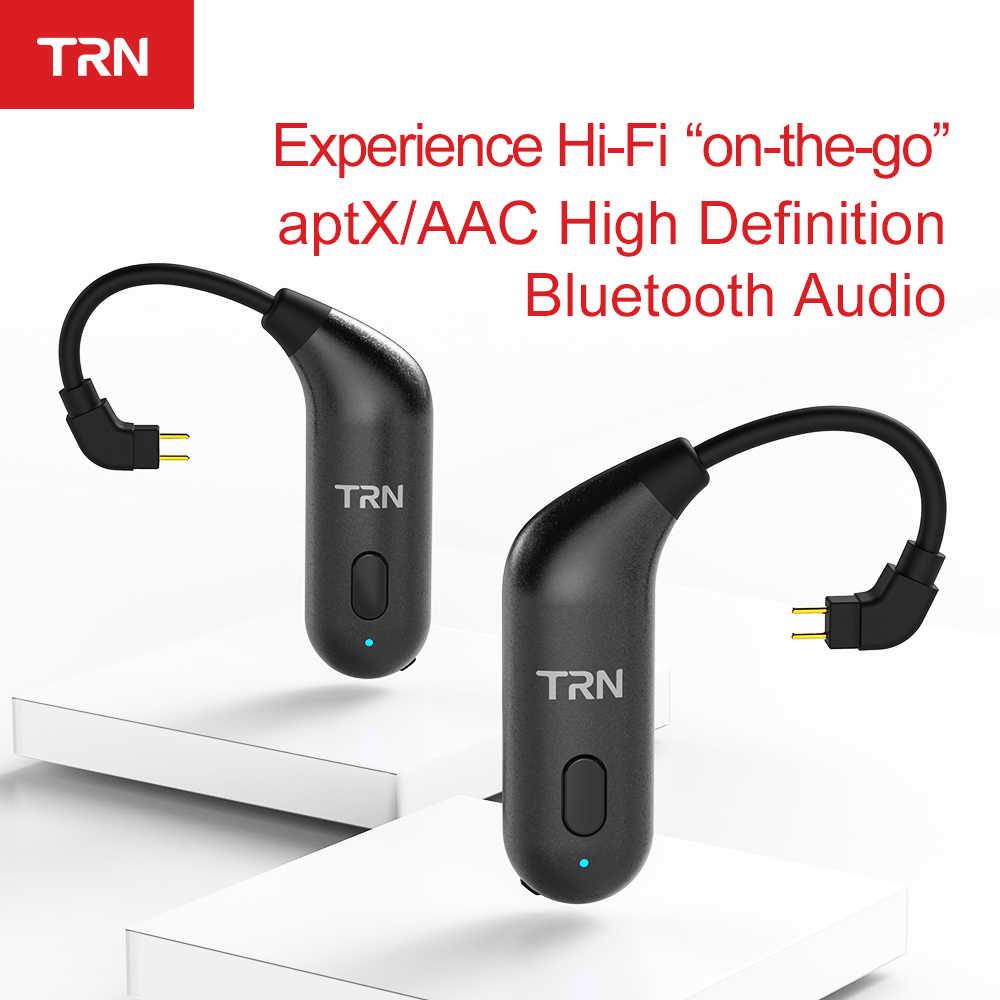 TRN BT20S APTX Bluetooth 5.0 Ear-hook MMCX/2Pin Earphones Cable Bluetooth Adapter for V80 IM1 IM2 X6 v30 V20 ZS10 F3 T2 S2 V90
