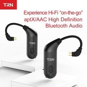 Image 2 - TRN BT20S APTX Bluetooth 5.0 Ear hook MMCX/2Pin Earphones Cable Bluetooth Adapter for VX BA5 IM2 X6 V30 V20 ZS10 F3 T2 S2 V90 M1